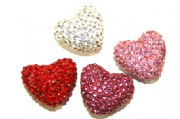 Pave Crystal  Hearts